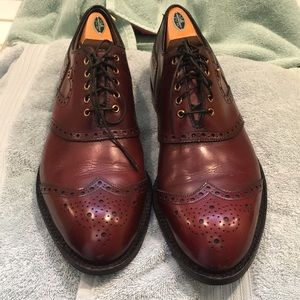Footjoy classics wingtips leather golfers shoes